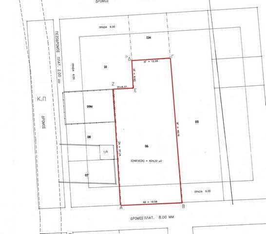 (For Sale) Land Plot || East Attica/Acharnes (Menidi) - 824 Sq.m, 212.000€